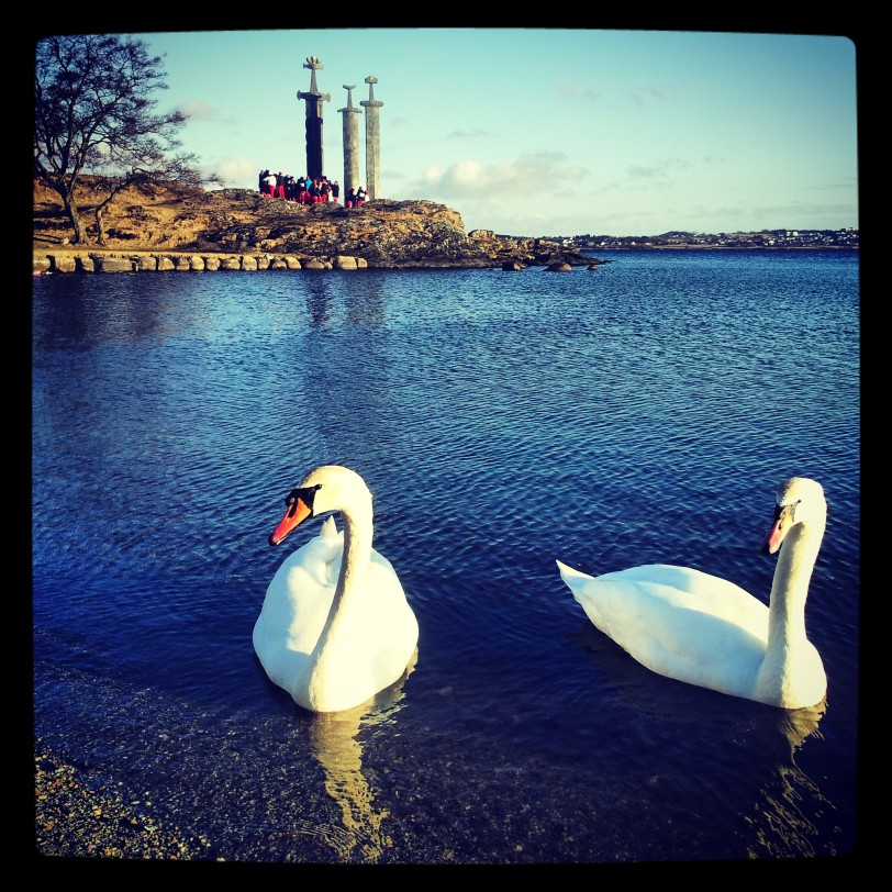 Swans by the Three Swords