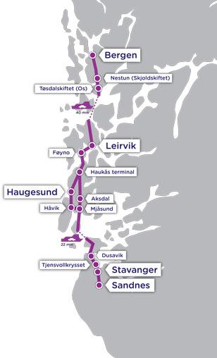 Stavanger-Bergen